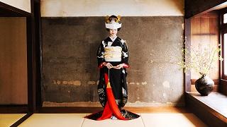 TANAN丹庵 引き振袖「立ち鶴」