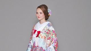 色打掛「雲取小花に鶴」着物レンタル丹庵