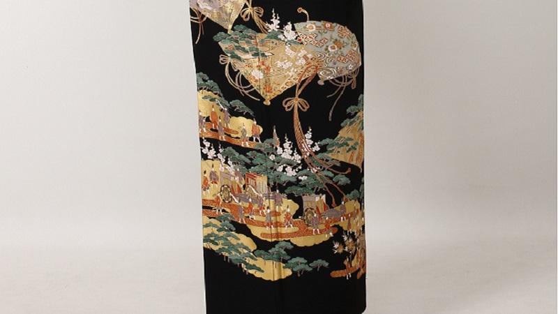 TANAN丹庵 留袖「檜扇に大名行列」