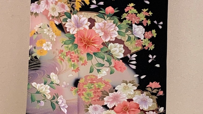 TANAN丹庵 留袖「洋花に流水地紙紋」