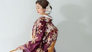 TANAN丹庵 色打掛「流水長寿桜(紫)」