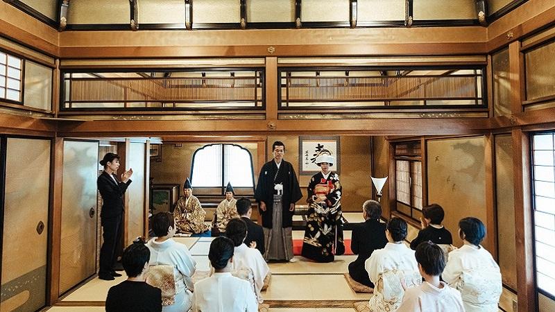和の人前式「祝言」長楽館 京都結婚式 TANAN丹庵