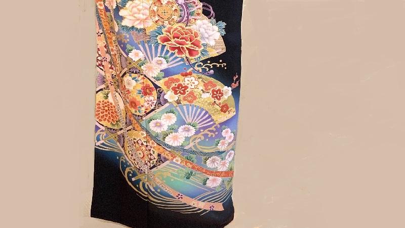 TANAN丹庵  留袖「扇面に天井紋」