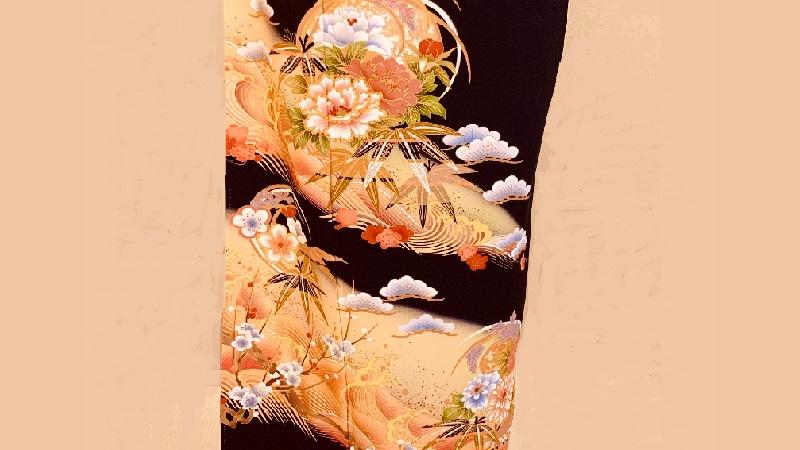 TANAN丹庵 留袖「波頭に牡丹菊の丸」
