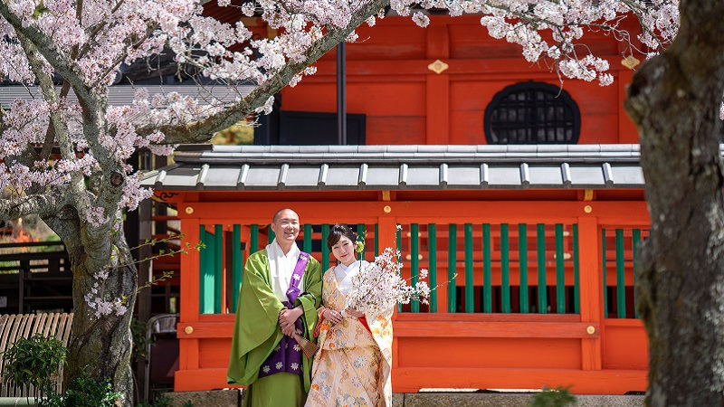京都前撮り 桜の季節「毘沙門堂」TANAN丹庵