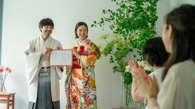 日本の結婚式 「婚約式」掲載衣裳