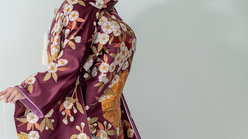 TANAN丹庵 色打掛「流水長寿桜 紫」